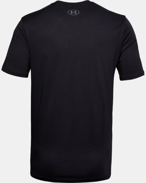 Men's UA Big Logo Breakdown Short Sleeve, Black, pdpMainDesktop image number 5