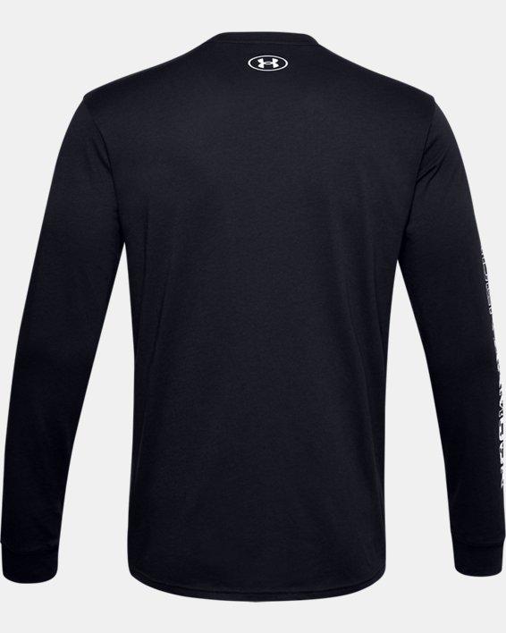 Haut à manches longues UA Camo Box Logo pour homme, Black, pdpMainDesktop image number 5