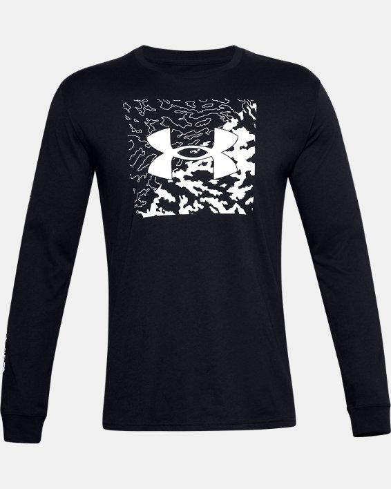 Haut à manches longues UA Camo Box Logo pour homme, Black, pdpMainDesktop image number 4