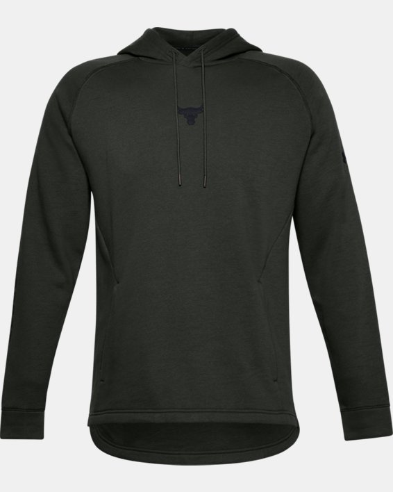 Men's Project Rock Charged Cotton® Hoodie, Green, pdpMainDesktop image number 4