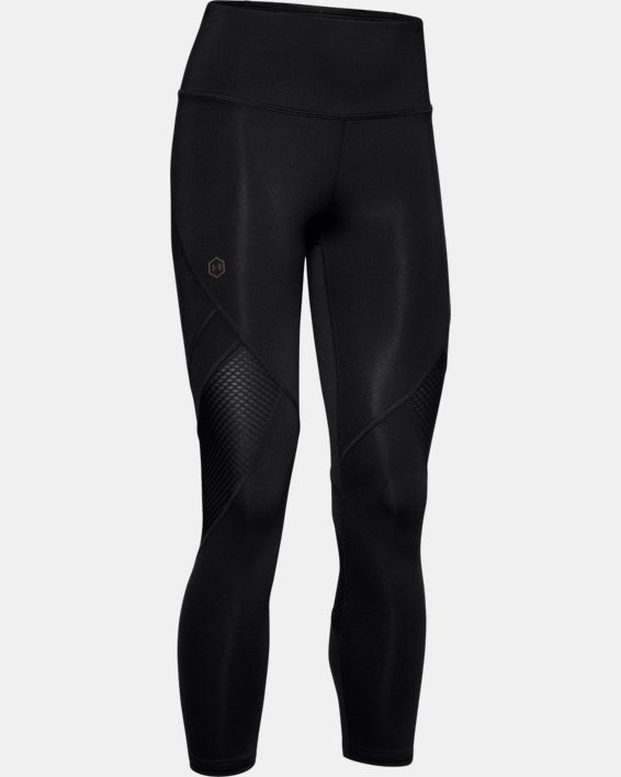 Women's UA RUSH™ Crop, Black, pdpMainDesktop image number 4