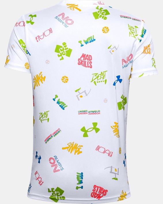 Boys' UA Tech™ Verbiage Short Sleeve, White, pdpMainDesktop image number 1
