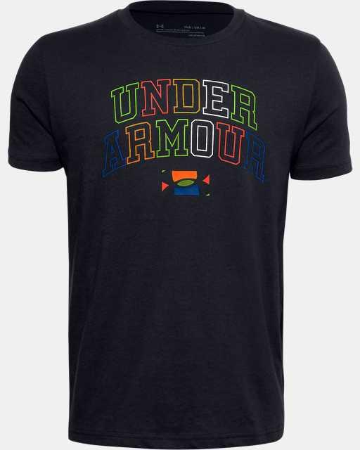 Boys' UA Multicolor Wordmark T-Shirt