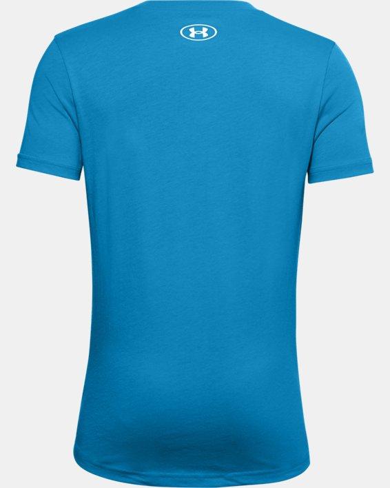 Boys' UA Multicolor Wordmark T-Shirt, Blue, pdpMainDesktop image number 1