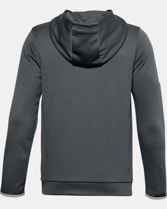 Boys' Armour Fleece® Big Logo Hoodie, Gray, pdpMainDesktop image number 1