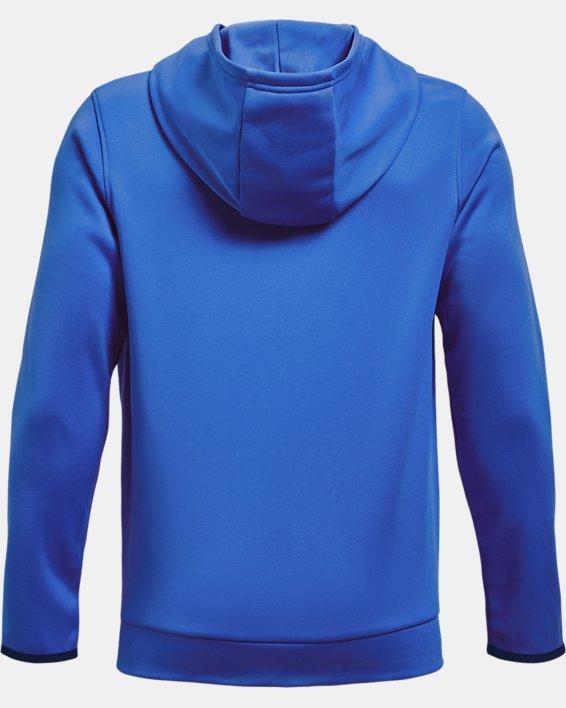 Boys' Armour Fleece® Big Logo Hoodie, Blue, pdpMainDesktop image number 1