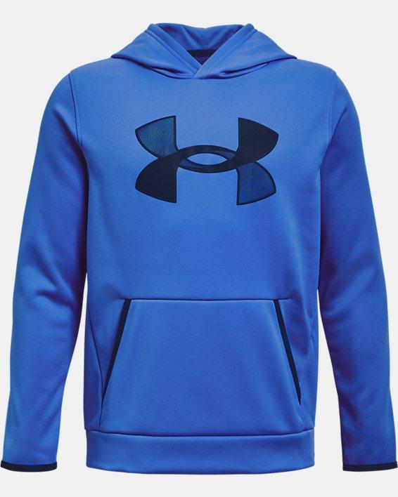 Boys' Armour Fleece® Big Logo Hoodie, Blue, pdpMainDesktop image number 0
