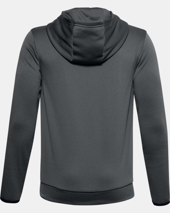 Boys' Armour Fleece® Multilogo Hoodie, Gray, pdpMainDesktop image number 1