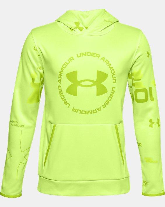 Sweat à capuche Armour Fleece® Branded pour garçon, Green, pdpMainDesktop image number 0