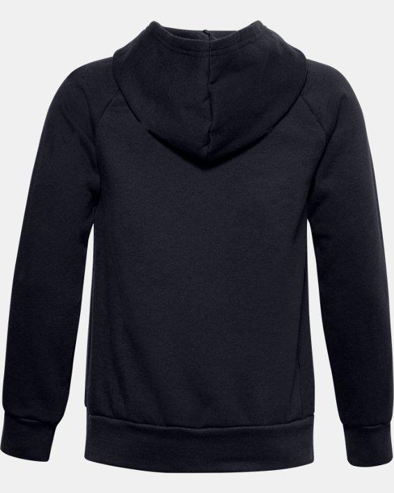 Jungen UA Rival Fleece Big Logo Hoodie, Black, pdpMainDesktop image number 1