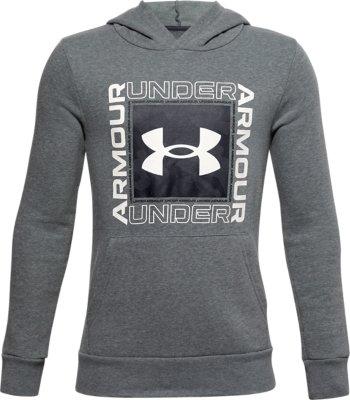 Boys' UA Rival Fleece Box Logo Hoodie | Under Armour