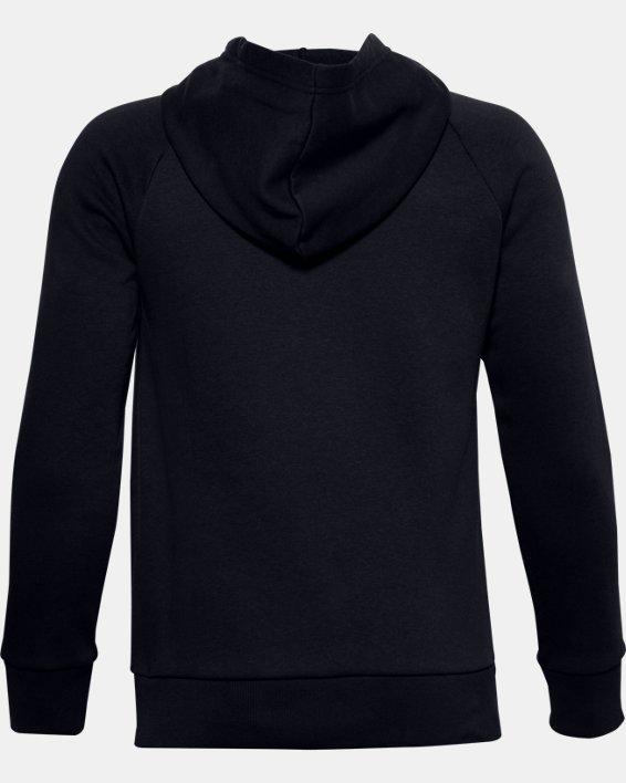 Boys' UA Rival Cotton Hoodie, Black, pdpMainDesktop image number 1