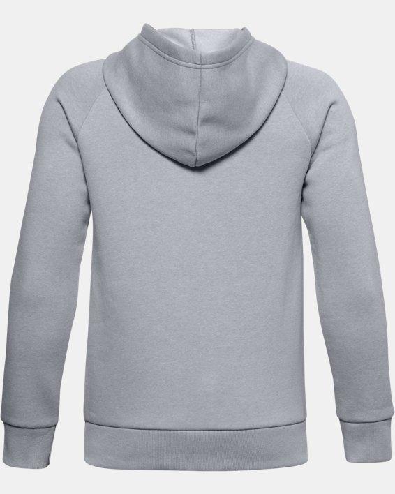 Boys' UA Rival Cotton Hoodie, Gray, pdpMainDesktop image number 1