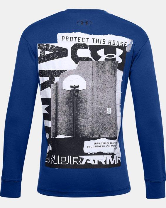 Boys' UA Hoopsreal Long Sleeve, Blue, pdpMainDesktop image number 1