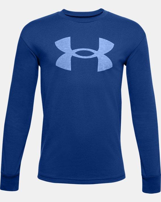 Boys' UA Hoopsreal Long Sleeve, Blue, pdpMainDesktop image number 0