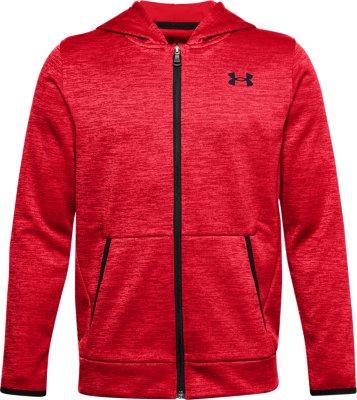 UNDER ARMOUR Sweat à capuche garçon Graphic Sweat-shirt rouge 1299352 601