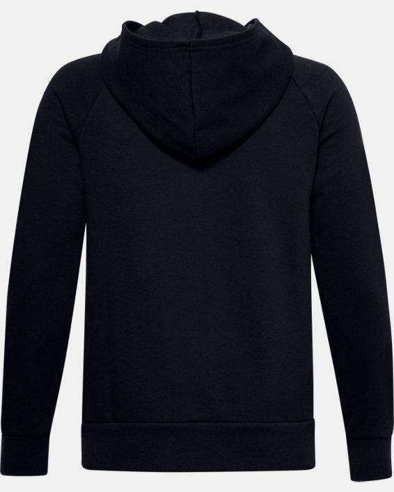 Boys' UA Rival Fleece Full Zip Hoodie, Black, pdpMainDesktop image number 1