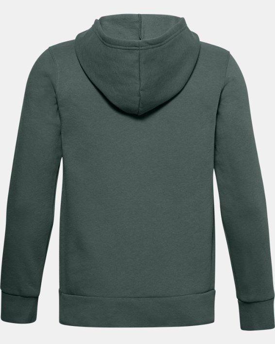Boys' UA Rival Fleece Graphic Full Zip Hoodie, Blue, pdpMainDesktop image number 1