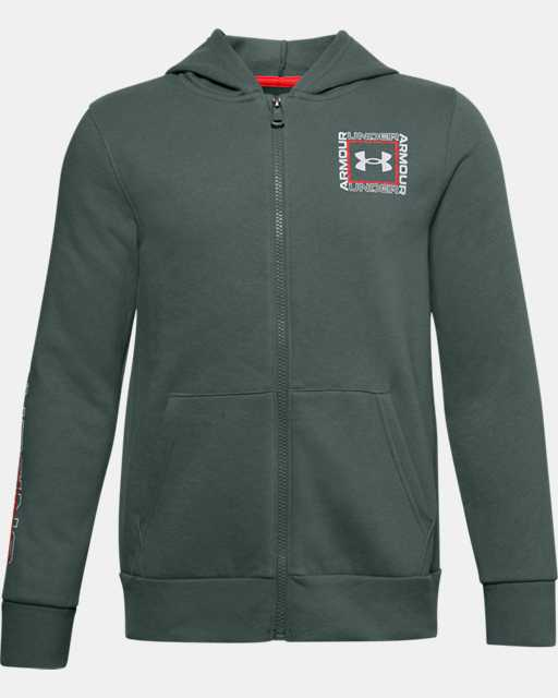 Boys' UA Rival Fleece Graphic Full Zip Hoodie