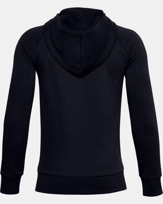 Sweat à capuche UA Rival Cotton Full Zip pour garçon, Black, pdpMainDesktop image number 1