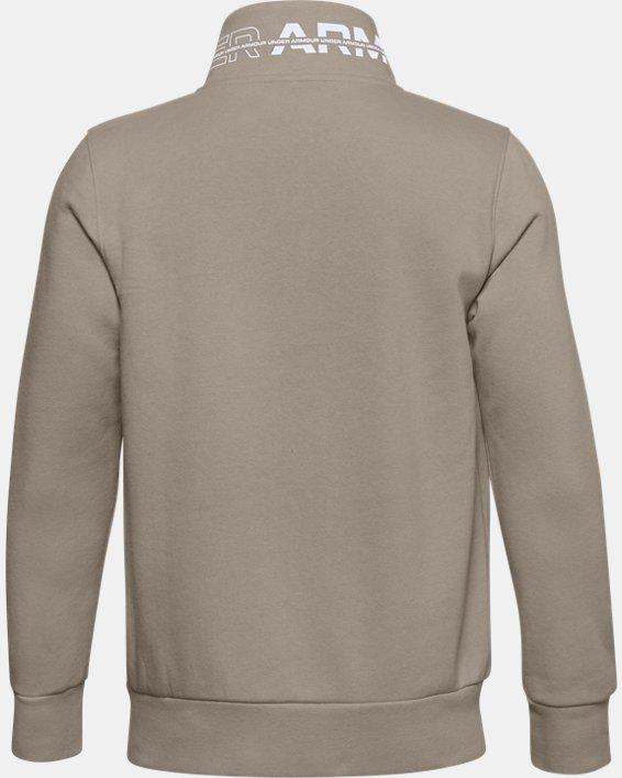 Boys' UA Rival Fleece Full Zip Jacket, Brown, pdpMainDesktop image number 1