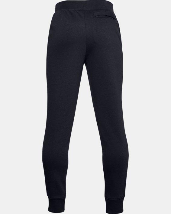 Boys' UA Rival Cotton Pants, Black, pdpMainDesktop image number 1