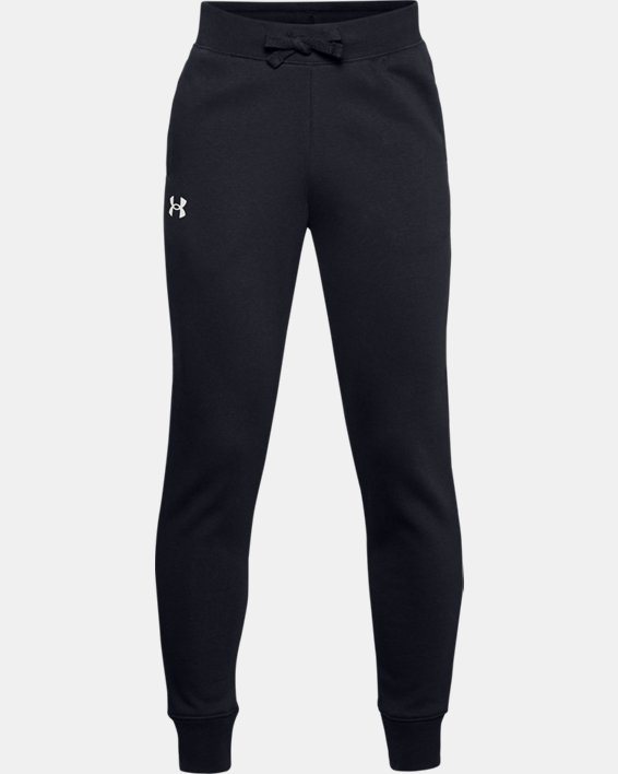 Boys' UA Rival Cotton Pants, Black, pdpMainDesktop image number 0