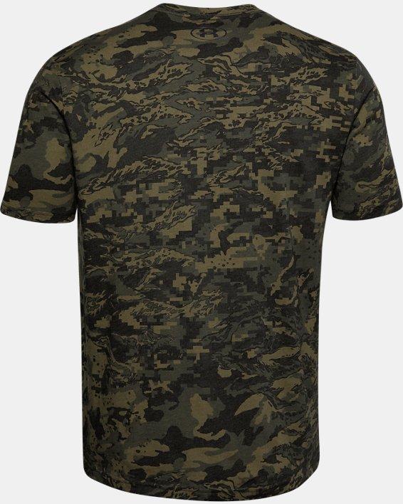 Men's UA ABC Camo Short Sleeve, Black, pdpMainDesktop image number 5