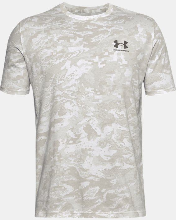 Men's UA ABC Camo Short Sleeve, White, pdpMainDesktop image number 4