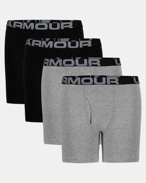 Boys' UA Cotton Boxer Briefs 4-Pack