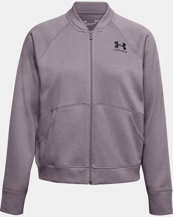 Women's UA Rival Fleece Jacket, Purple, pdpMainDesktop image number 4