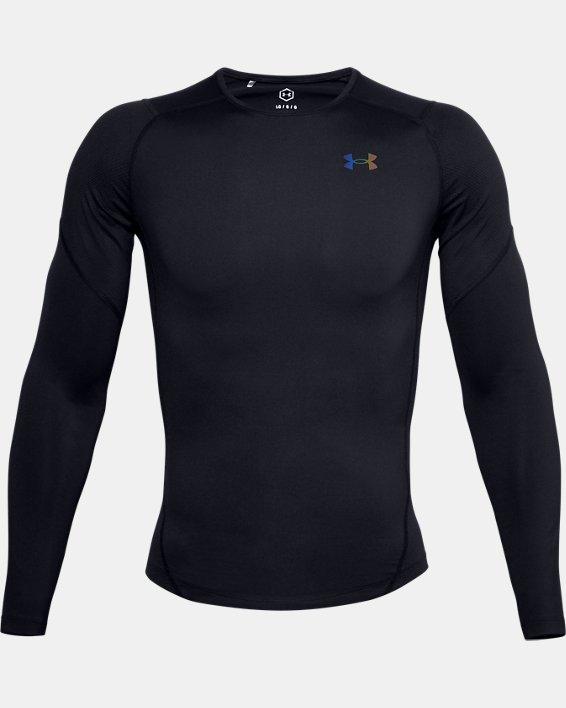 T-shirt à manches longues UA RUSH™ HeatGear® 2.0 Compression pour homme, Black, pdpMainDesktop image number 5