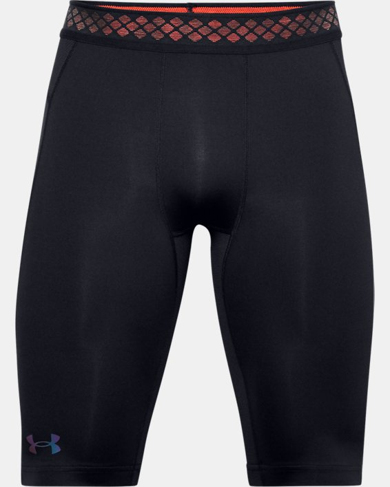 Herren UA RUSH™ HeatGear® 2.0 Lange Shorts, Black, pdpMainDesktop image number 3