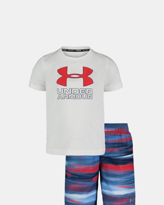 Boys' Pre-School UA Grater Volley Set, White, pdpMainDesktop image number 0