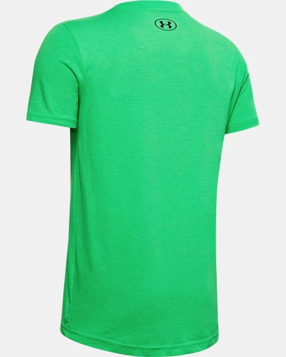 Boys' UA Football Field Short Sleeve, Green, pdpMainDesktop image number 1