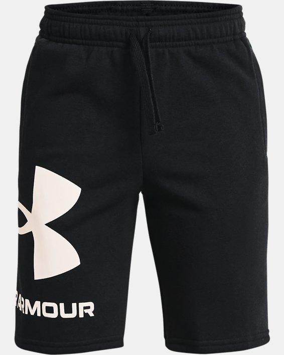 Boys' UA Rival Fleece Big Logo Shorts, Black, pdpMainDesktop image number 0