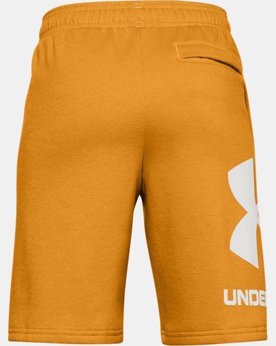 Boys' UA Rival Fleece Big Logo Shorts, Yellow, pdpMainDesktop image number 1