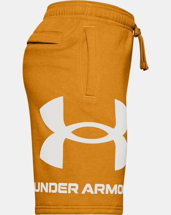 Boys' UA Rival Fleece Big Logo Shorts, Yellow, pdpMainDesktop image number 2