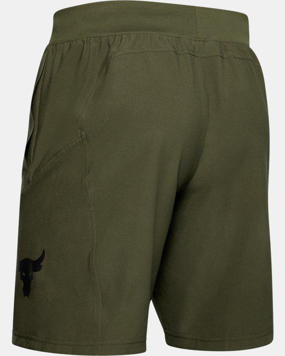 Men's Project Rock Unstoppable Shorts, Green, pdpMainDesktop image number 4