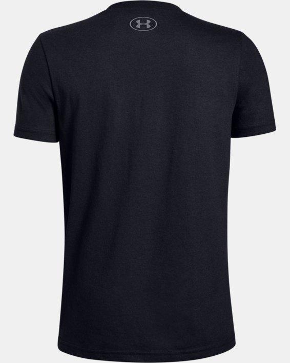 Boys' UA Football Game Mode T-Shirt, Black, pdpMainDesktop image number 1