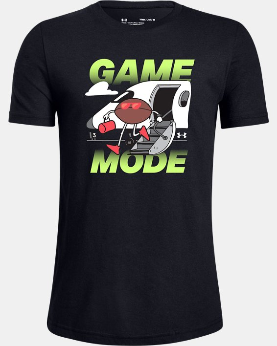 Boys' UA Football Game Mode T-Shirt, Black, pdpMainDesktop image number 0