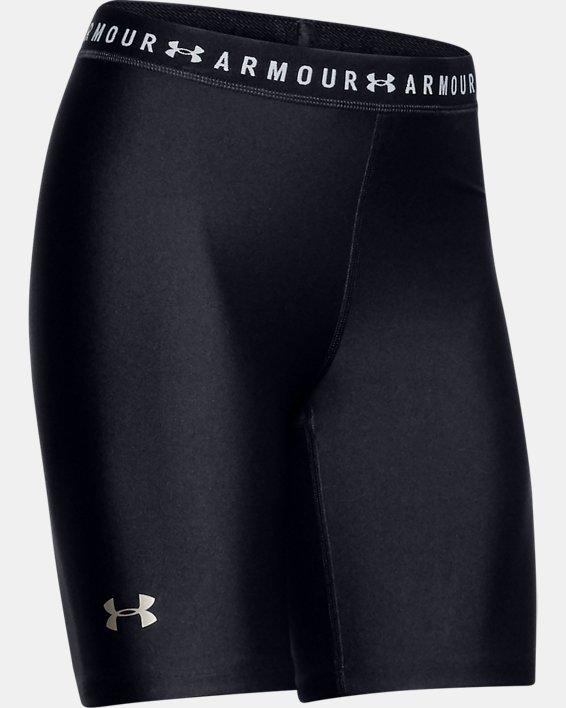 Women's HeatGear® Armour Bike Shorts, Black, pdpMainDesktop image number 4