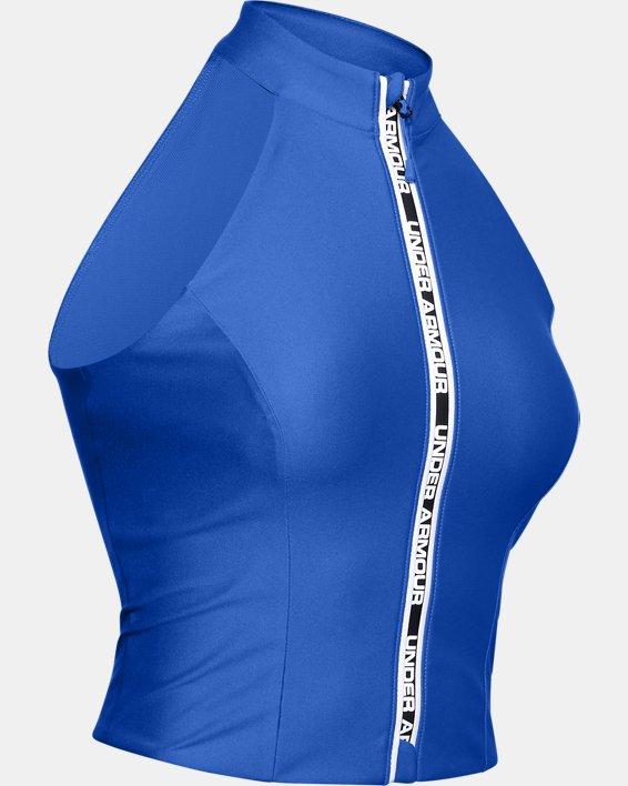 Women's UA Summit Crop Top, Blue, pdpMainDesktop image number 3