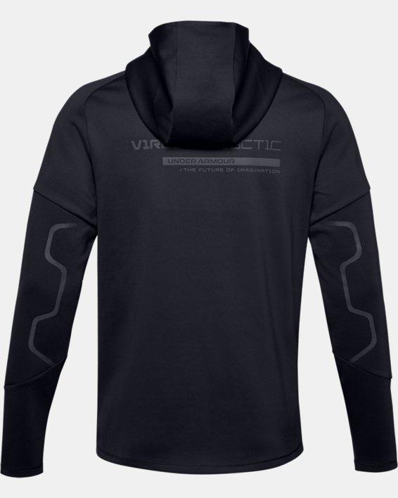 Men's UA + Virgin Galactic RECOVER™ Ponte Hoodie, Black, pdpMainDesktop image number 5
