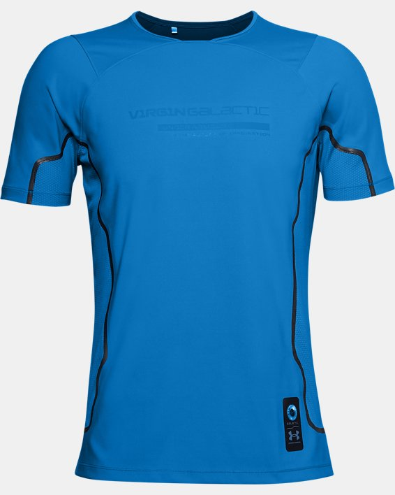 Men's UA + Virgin Galactic RUSH™ Short Sleeve, Blue, pdpMainDesktop image number 4