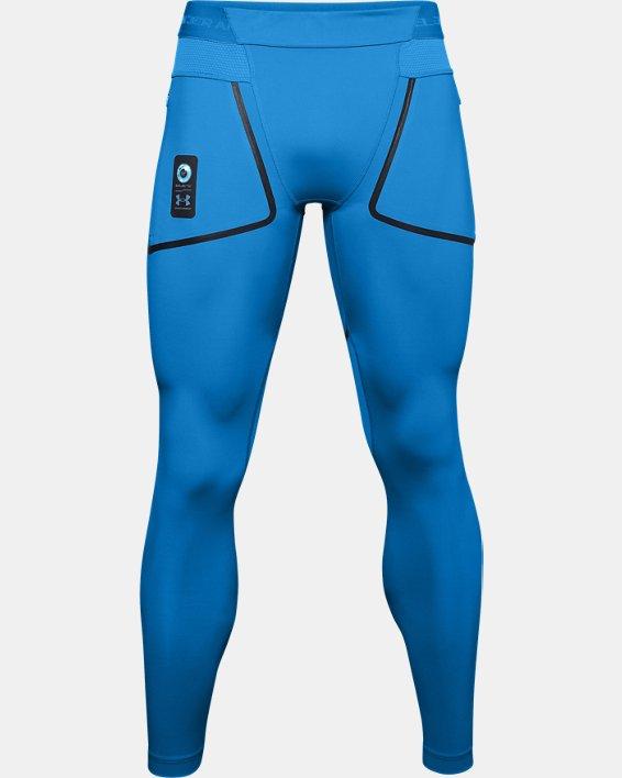 Men's UA + Virgin Galactic RUSH™ Leggings, Blue, pdpMainDesktop image number 4