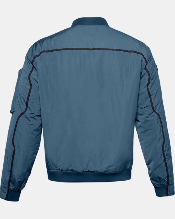 Unisex UA + Virgin Galactic Flight Jacket, Blue, pdpMainDesktop image number 5