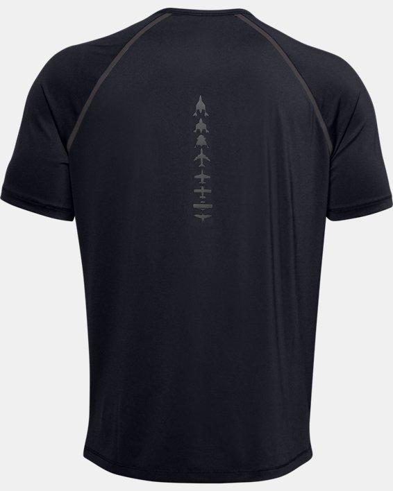 Men's UA + Virgin Galactic Pocket Short Sleeve, Black, pdpMainDesktop image number 5
