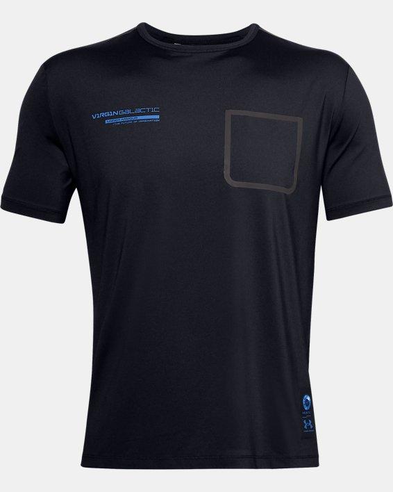 Men's UA + Virgin Galactic Pocket Short Sleeve, Black, pdpMainDesktop image number 4