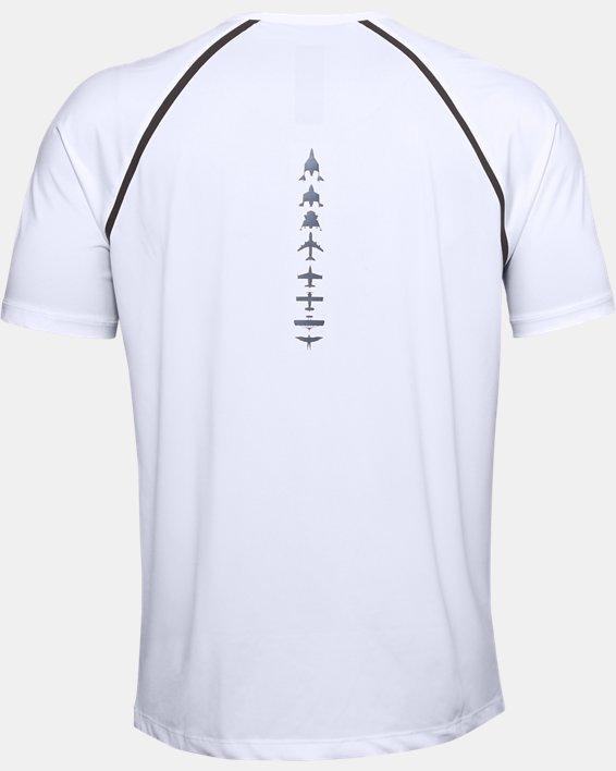 Men's UA + Virgin Galactic Pocket Short Sleeve, White, pdpMainDesktop image number 5